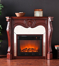Holly & Martin™ Burbank Electric Fireplace-Cherry