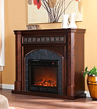 Holly & Martin™ Belton Electric Fireplace-Espresso