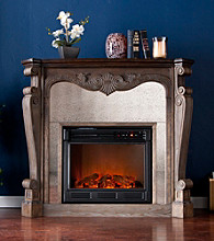 Holly & Martin™ Oakhurst Electric Fireplace-Burnt Oak
