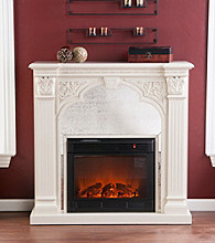 Holly & Martin™ Andorra Electric Fireplace-Ivory