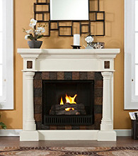 Holly & Martin™ Weatherford Convertible Ivory Gel Fireplace