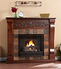 Holly & Martin™ Calgary Gel Fireplace-Espresso