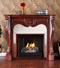Holly & Martin™ Burbank Gel Fireplace-Cherry