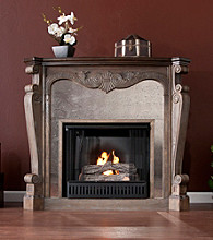 Holly & Martin™ Oakhurst Gel Fireplace-Burnt Oak