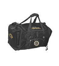 TNT Media Group Boston Bruins Black Roadblock Duffel Bag