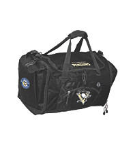 TNT Media Group Pittsburgh Penguins Black Roadblock Duffel Bag