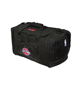TNT Media Group Detroit Pistons Black Roadblock Duffel Bag