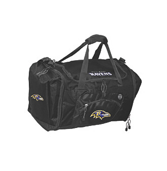 TNT Media Group Baltimore Ravens Black Roadblock Duffel Bag