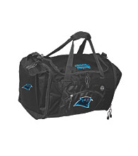 TNT Media Group Carolina Panthers Black Roadblock Duffel Bag