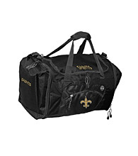 TNT Media Group New Orleans Saints Black Roadblock Duffel Bag