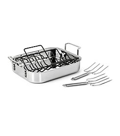 Calphalon® Stainless Steel Tri-Ply Turkey Roaster with Rack & Lifters