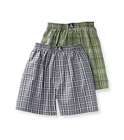 Jockey® Boys' Grey/Green 2-pk. Plaid Boxers