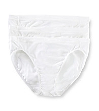Jockey® Stay Cool 3-pk. Hi-Cut Panties - White