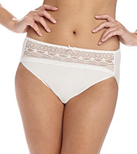 Naomi & Nicole® Gardenia Wonderful Edge Hi-Cut Panty with Lace