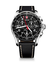 Victorinox® Swiss Army® Men's Chrono Classic XLS Watch - Black Leather