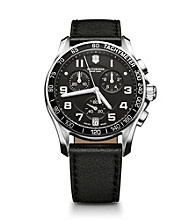 Victorinox® Swiss Army® Men's Chrono Classic Watch - Black Leather