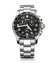Victorinox® Swiss Army® Men's Chrono Classic Stainless Steel Dial Watch - Black