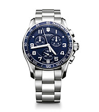 Victorinox® Swiss Army® Men's Chrono Classic Stainless Steel Dial Watch - Navy