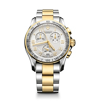Victorinox® Swiss Army® Men's Chrono Classic Stainless Steel Dial Watch - Gold/Silver