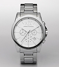 A|X Armani Exchange Men's Silver Stainless Steel Bracelet Watch