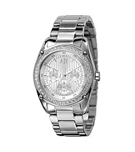 A|X Armani Exchange Women's Silver White Stainless Steel Bracelet Watch