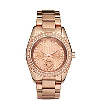 A|X Armani Exchange Women's Rose Gold Stainless Steel Bracelet Watch