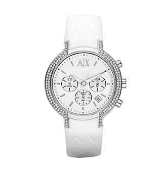 A|X Armani Exchange Ladies' White Silicone Watch