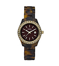 Fossil® Women's Stella Mini Resin Tortoise Watch