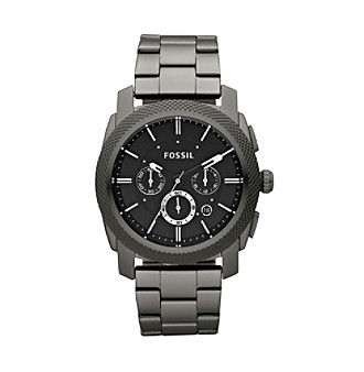 Fossil® Men's Machine Stainless Steel Smoke Watch