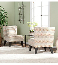 Holly & Martin™ Pair of Chappell Hill Clapton Jade Accent Chairs with Decorative Pillows
