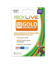 Xbox 360® 12 Month Live Gold Card