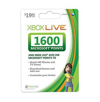 Xbox 360® Live 1600 Points