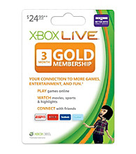 Xbox 360® Live 3 Month Gold Card