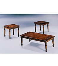 Monarch Dark Oak Three Piece Table Set