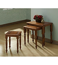 Monarch Dark Oak Three Piece Nesting Table