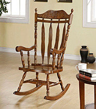 Monarch Dark Walnut Solid Wood Rocking Chair