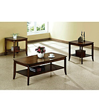 Monarch Walnut Solid Top Occasional Table Collection