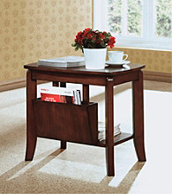 Monarch Walnut Solid Top Magazine Table