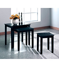 Monarch Black Grain Veneer Three-Piece Nesting Table Set