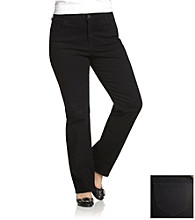 NYDJ® Plus Size Black Marilyn Straight Leg Jeans