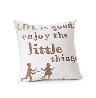 "MaryJane's Home ""Life is Good"" Decorative Pillow"