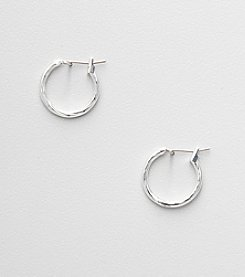 Napier® Silvertone Small Hoop Earrings