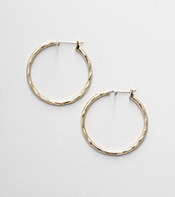 Napier® Goldtone Swirl Hoop Earrings