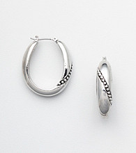 Napier® Oval Hoop Earrings with Accents