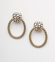 Napier® Goldtone Clip Drop Earrings