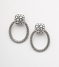 Napier® Silvertone Clip Drop Earrings