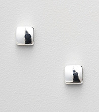 Napier® Silvertone Square Stud Earrings