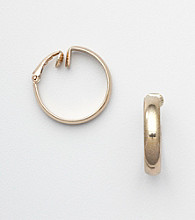 Napier® Goldtone Clip Hoop Earrings