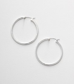 Napier® Silvertone Hoop Earrings