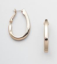 Napier® Goldtone Oval Hoop Earrings